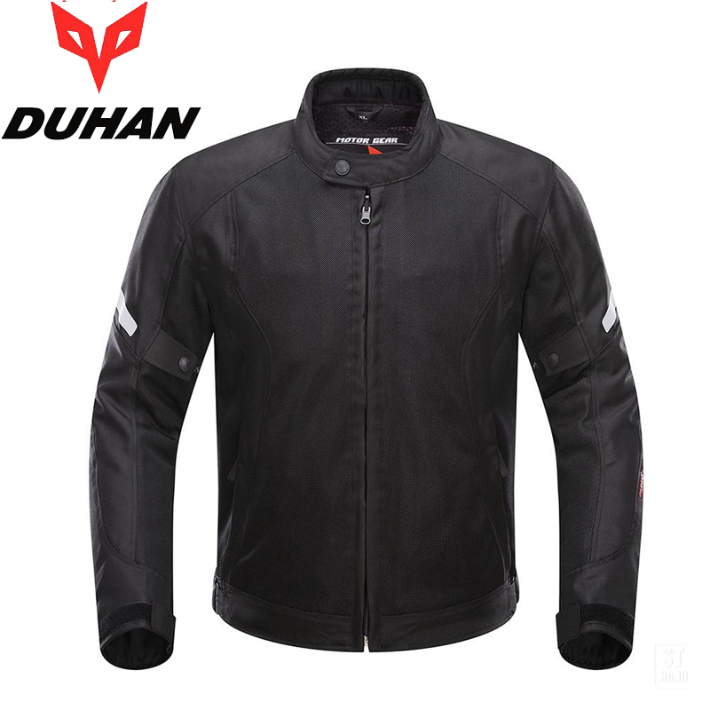 Brand DUHAN Summer Motorcycle Back and Elbow Protection Jacket Motocross Breathable Clothing MOTO Mesh Blouson for Men and Women