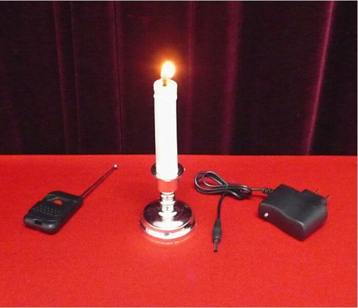 Tours de magie télécommande bougie feu magique étape magie électronique