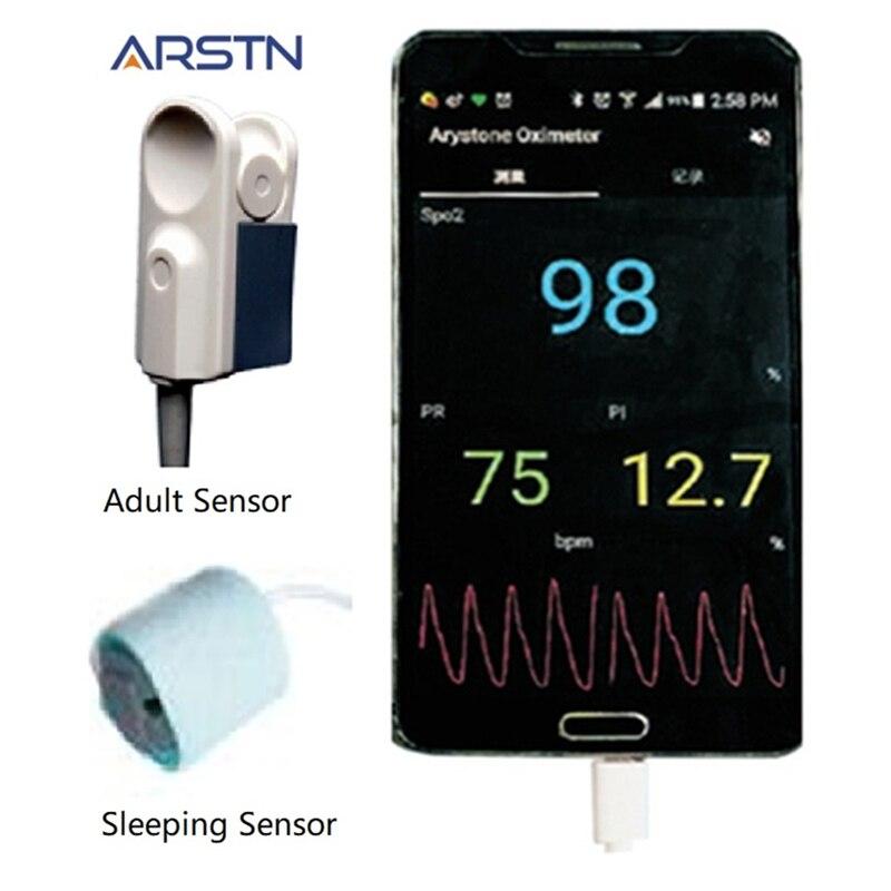 2 sensor Handheld Pulsoximeter hause Oximetro Pulsioximetro finger Herz Rate Monitor für Android handy mit OTG funktion CE-in Blood Pressure aus Haar & Kosmetik bei  Gruppe 3