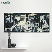 Canvas Wall Art Spain France Picasso Guernica Painting Abstract Drawing Spray Oil Painting Frameless Home Decor
