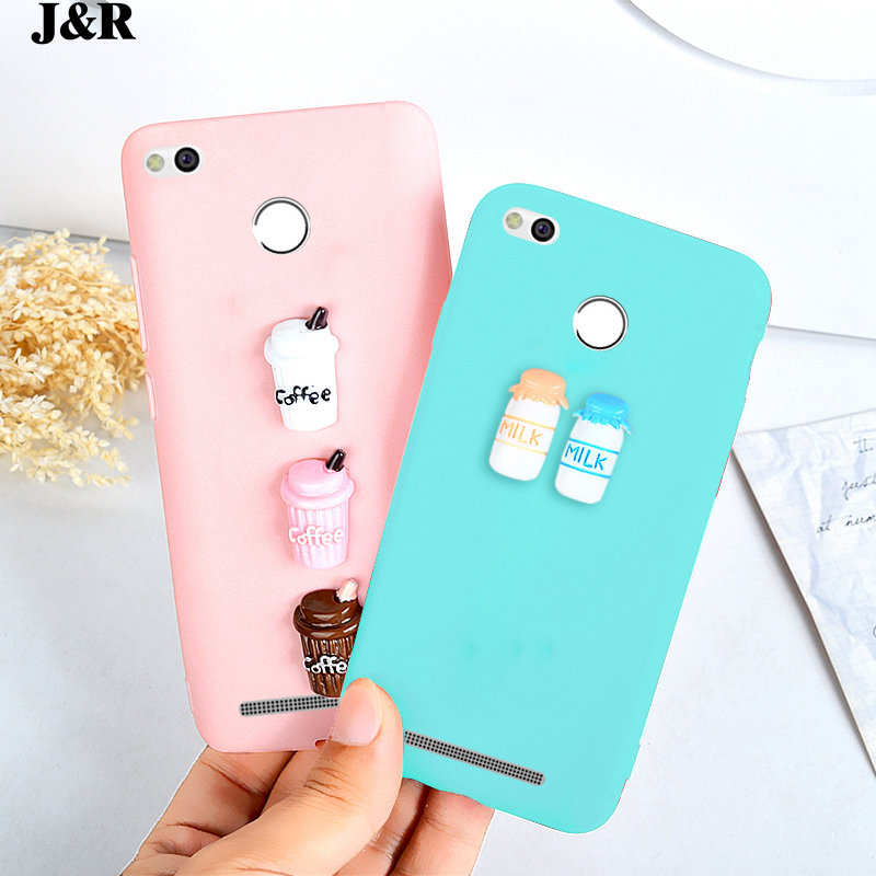 <font><b>Case</b></font> For Xiaomi <font><b>Redmi</b></font> 3 S Pro 3s 3 X Silicon Cover For <font><b>Xiomi</b></font> <font><b>Redmi</b></font> <font><b>Note</b></font> 3 4 <font><b>4X</b></font> 4A 5 5A Plus Pro Phone Bag Cute Milk Coffee Shell image