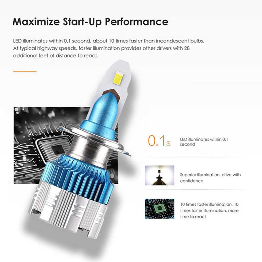 Alicen 50W 8000LM H7 Led Headlight Bulbs H4 LED H7 H1 9005/HB3 9006/HB4 H8 H9 H11 Led Fog Light 6000K 12V Auto Headlamp