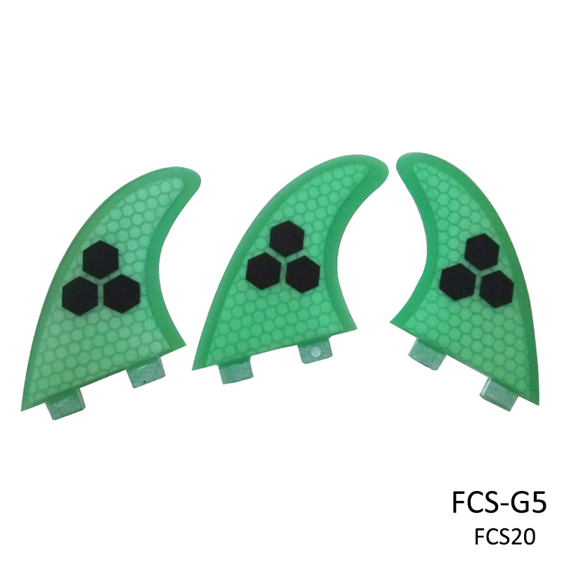 FCS Fin Surf Boards Fins G5 Orange / Blå / Grön / Grå FCS Surfing Fin Quilhas Thruster