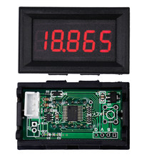 10 stks/partij 5 Bit drie Draden Voltmeter Rode LED Digitale Volt Meter Gauge Voltage Monitor tester DC 0.000-33.000 V(China)
