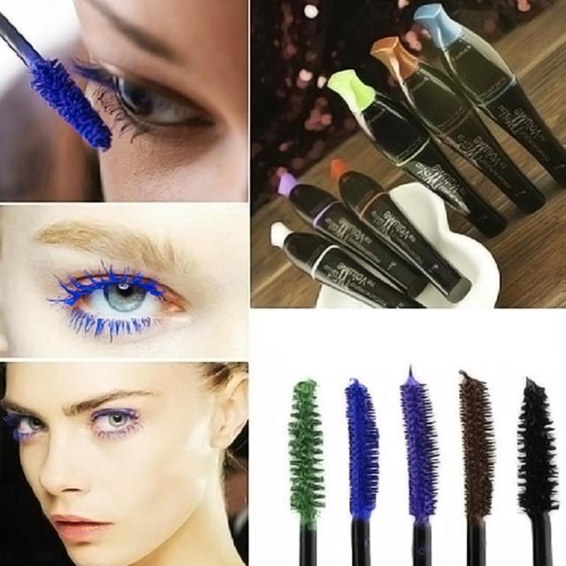 Waterproof Blue Purple Black Green Brown Mascara