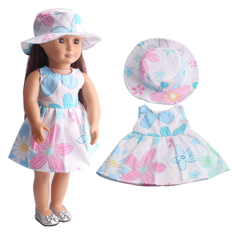 Handmade princess dress 18 inches of American girl dolls dolls clothes two suites + hat C216 216 girl