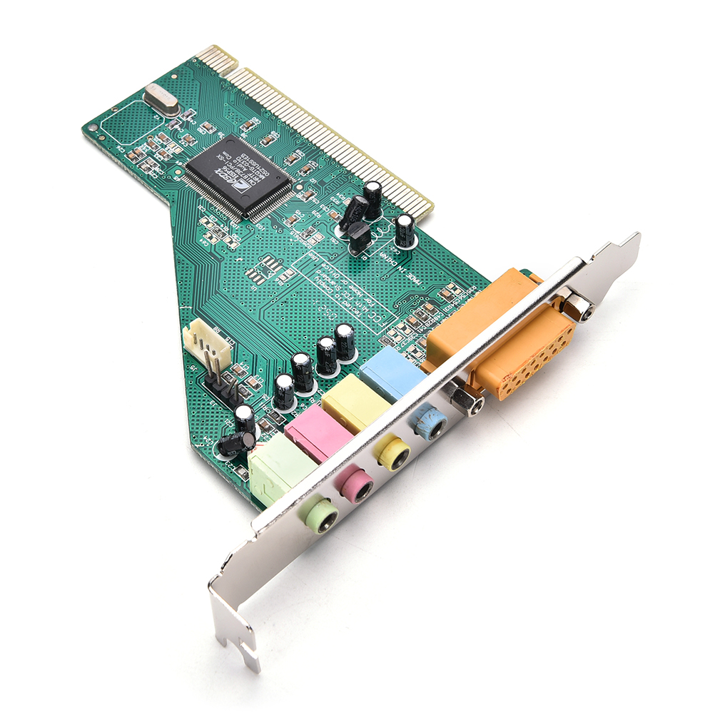 4 Channel 5.1 Surround 3D PC PCI Sound Audio Card w/Game MIDI Port Sound Card ess 4 1 channel pci sound card red