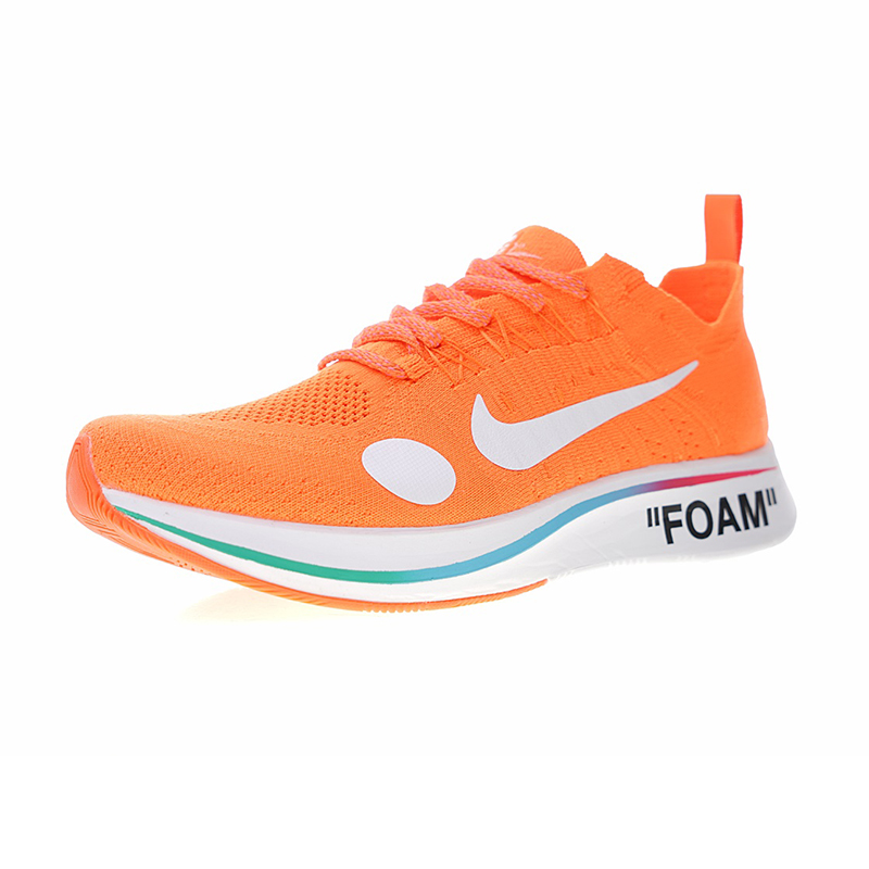 Original New Arrival Authentic Nike Zoom Fly Mercurial Flyknit X Off-White Men's Running Shoes Sport Outdoor Sneakers AO2115-800 1