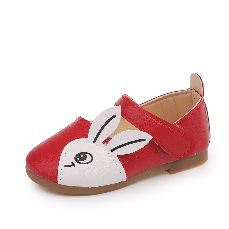 JGSHOWKITO Cute Rabbit Girls Shoes PU Leather Show Dance Performance Toddler  Little Girl Shoes Kids Flats Children Girls Shoes dd8da846f83d