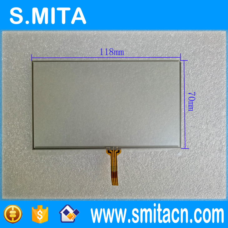New 5 inch universal 4-wire resistive touch screen GPS navigation BA230D BC230D BD230D BE 230D BF230D 118*70mm