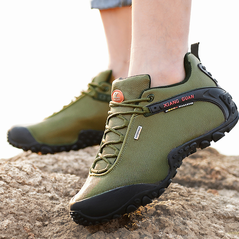 Brand XIANGGUAN Lovers Hiking Shoes Men Sneakers Women Climbing Sports Shoes Athletic Waterproof Breathable Travelling Outdoor women outdoor hiking shoes professional breathable new design women climbing shoes brand genuine leather sports shoes bd8061