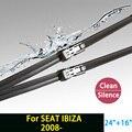 """Escovas para SEAT IBIZA (a partir de 2008) 24 """"+ 16"""" fit botão tipo de limpador braços só HY-011"""