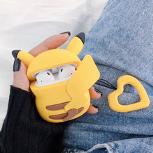 Oortelefoon Case Voor Apple Airpods 1 Opladen doos Leuke Japan mooie Cartoon Cover Voor Airpods 2 Case Cover Earpods Case ring Band(China)