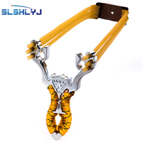 New Powerful Aluminium Alloy Slingshot Sling Shot Catapult Camouflage Bow Catapult Outdoor Hunting Camping Travel Kits