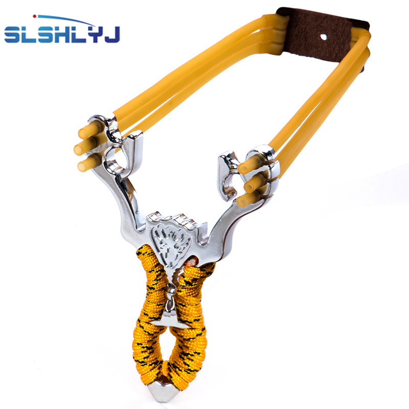2017 Hot New Powerful Aluminium Alloy Slingshot Sling Shot Catapult Camouflage Bow Catapult Outdoor Hunting Camping Travel Kits