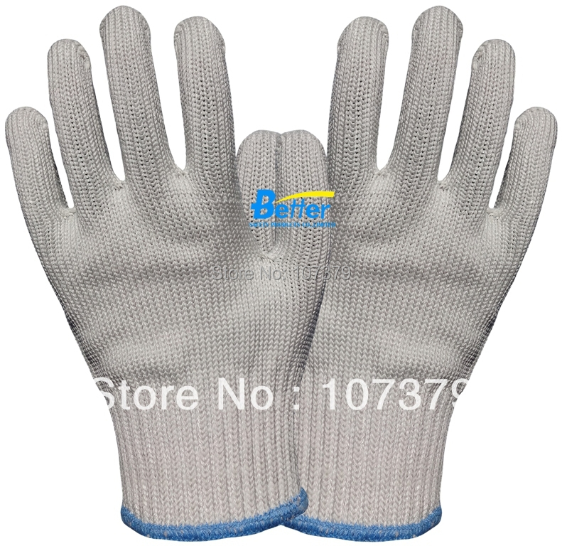 Glass Handing Safety Gloves Steel Working Gloves HPPE Anti Cut Resistant Butcher Work Gloves 2017new style 316l anti cut gloves with stainless steel safety protective gloves with a anti cut hppe gloves 2 pairs
