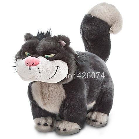 New Cinderella Sister Cat Lucifer Plush For Girls Boys 46CM Kids Stuffed Animals Toys For Children
