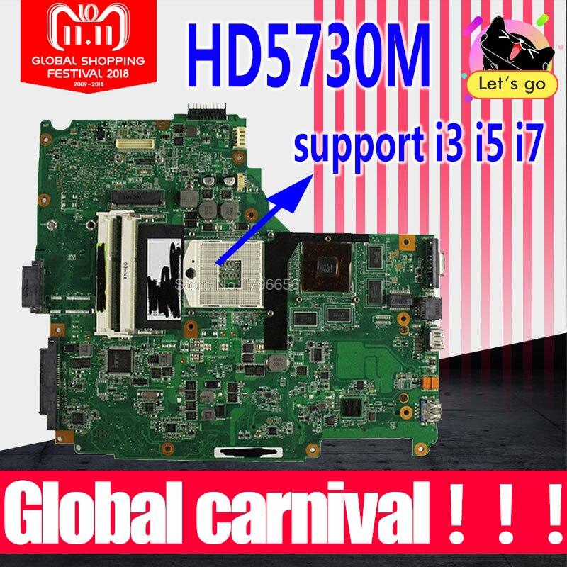 Envoyer conseil + N61JA Carte Mère REV: 2.0 HD5730M Pour ASUS N61J N61JV Mère d'ordinateur portable N61JA Carte Mère N61JA Carte Mère test OK
