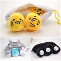 Anime My Neighboor Totoro No Face Yolk Bros Gudetama Egg Plush Pendant Toys Peluche Doll Brinquedos Gift 3 Sets 24cm