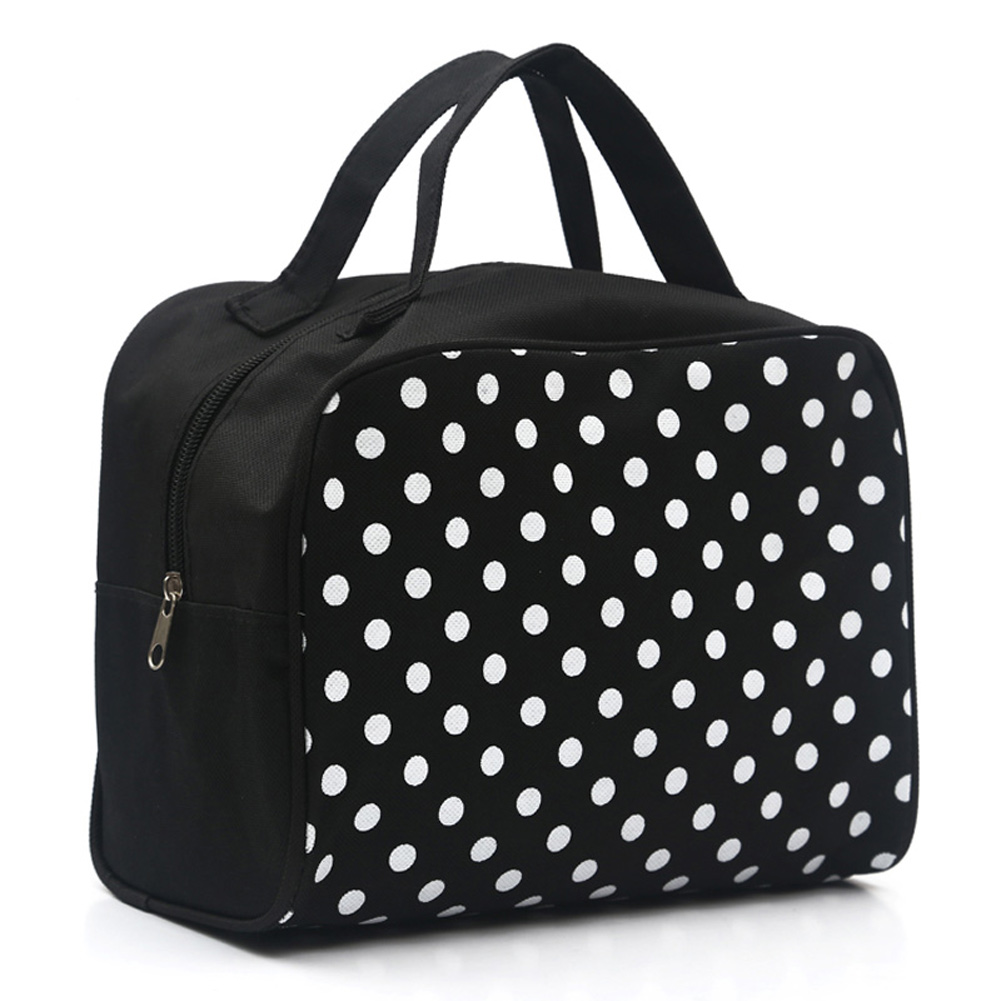 Fashion Lady Organizer  Multi Functional Cosmetic Storage Dots Bags Women Makeup Bag With Pockets Toiletry Pouch PO66