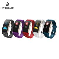 Waterproof Smart Bracelet With Heart Rate/Blood Pressure/Blood Oxygen Monitoring Watch For IOS/Android With Colorful Screen