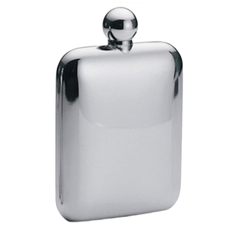 1pc 6 oz Square Wine Pot Camping Flagon Hip Flask Stainless Steel Wine Pot