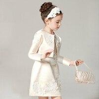 Для Девочек Свадебное платье Вечеринка платья для 2 3 4 5 6 7 8 9 10 11 для детей 12 лет, платья принцесс для девочек 2 шт./компл. Королевский придворна