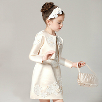Girls Wedding Dress Evening Party Dresses For 2 3 4 5 6 7 8 9 10 11 12 Years Old Princess Girls 2pcs/set Royal Court Clothes