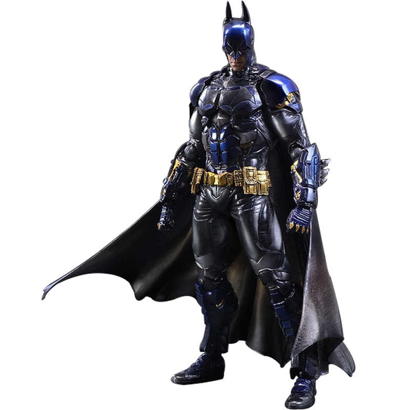 28 CM Movie Figure Playarts KAI Batman Arkham Knight Batman Blue Limited Ver. PVC Action Figure Collectible Model Toy for Kids playarts kai batman arkham knight batman blue limited ver brinquedos pvc action figure collectible model doll kids toys 28cm