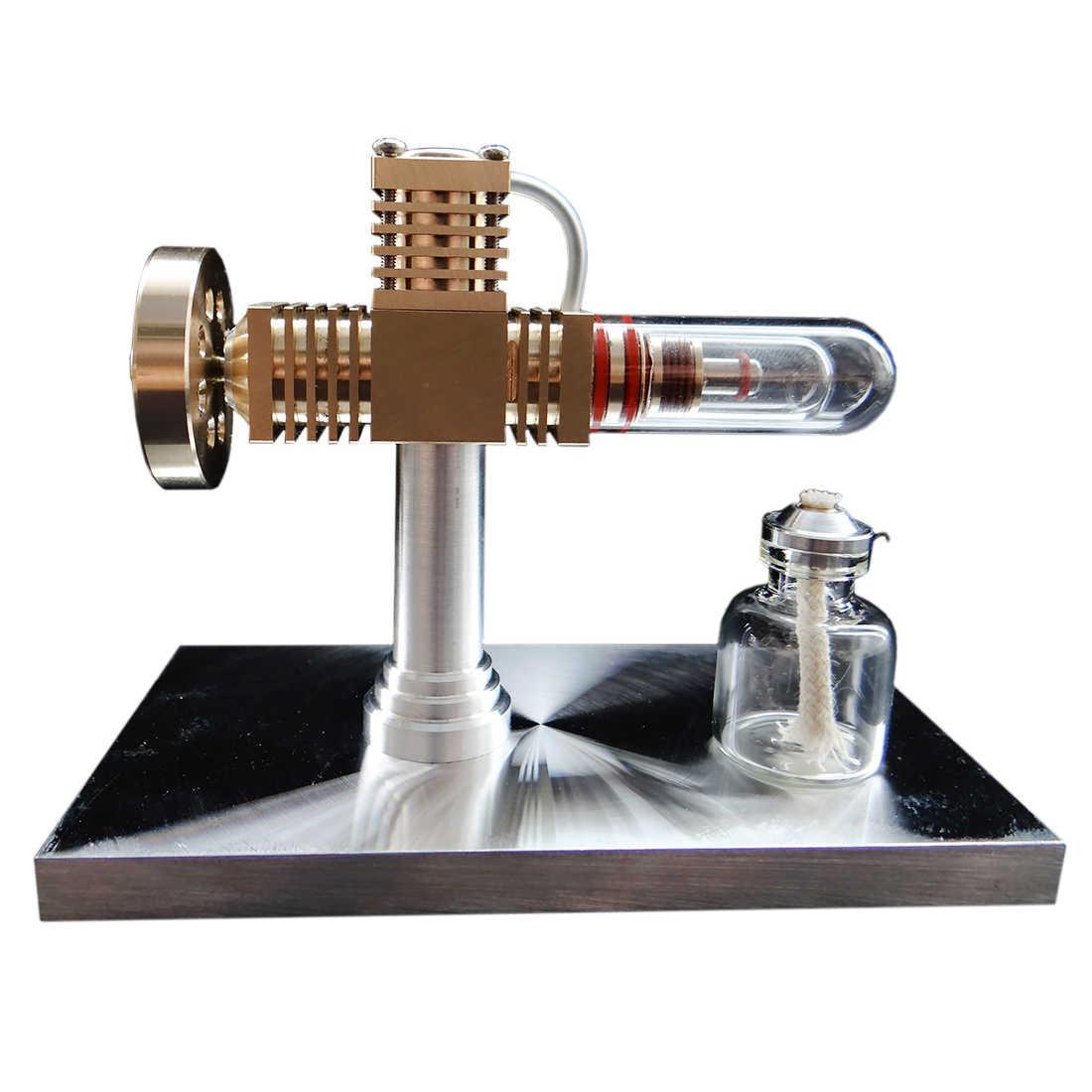 Kwarcowy ciepła rury darmowa-tłok Model silnika stirlinga High-End kreatywny prezenty do kolekcji zabawka edukacyjna prezent dla dzieci dzieci