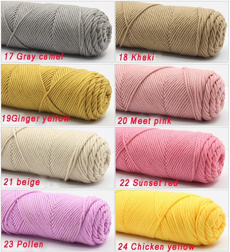 100g/pcs Natural Soft Silk Milk Cotton Yarn Thick Yarn For Knitting Lover Scarves Knitting Wool crochet yarn weave thread 9