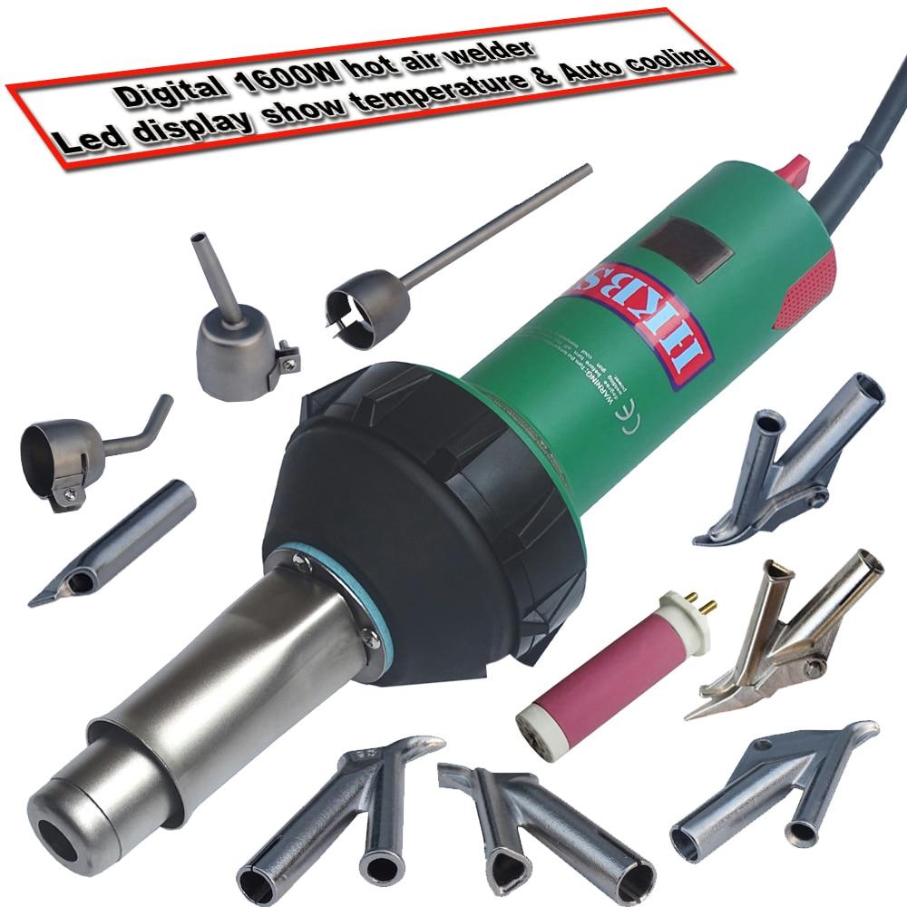 HKBST air chaud soudeur plastique gun avec LED spectacle température et de refroidissement automatique fonction pour différents types de soudage thermoplastique