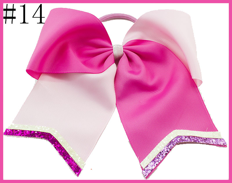 free shipping 30pcs glitter cheer hair bows Cheerleading Bow With Glitter Tails
