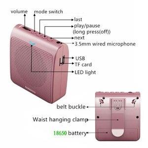 Image 3 - K100 Tragbare Mini Audio Lautsprecher Tragbare Verstärker Stimme Natürlichen Stereo Sound Mikrofon Lautsprecher für Tour Guide Rede