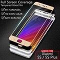 Xiaomi mi 5S mi5s cubierta de la película del protector de pantalla de vidrio templado para xiaomi 5s pro colorful blanco negro oro