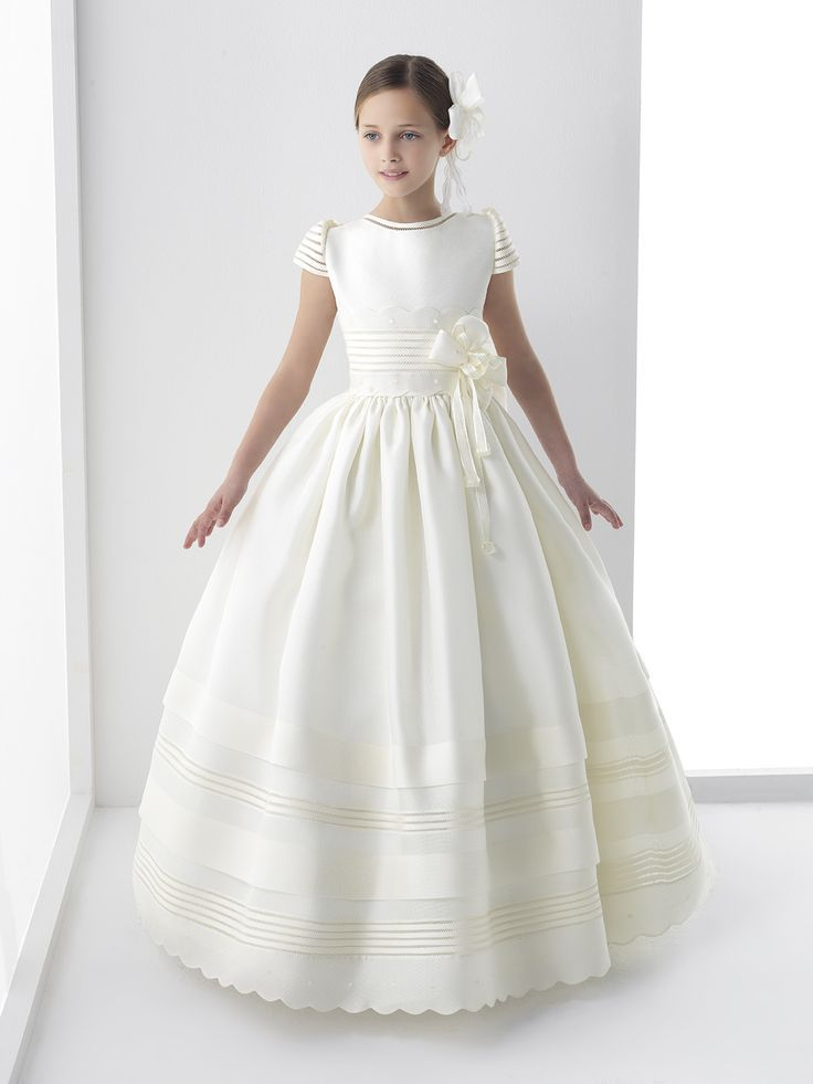 5807e3d0085 2016 New Ball Gown Flower Girl Dresses with Bow Girls Pageant Gown First  Communion Dresses For Girls