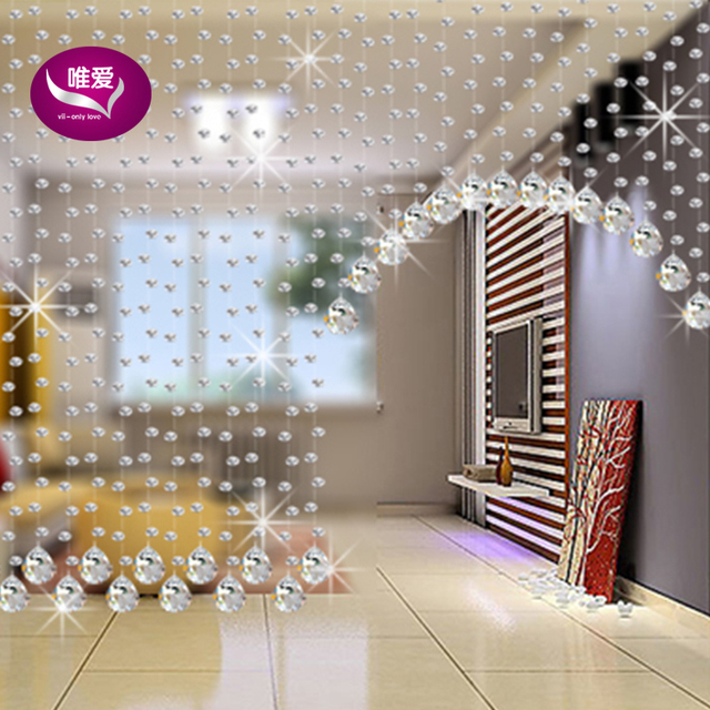5 strings custom-made100CM height  octagonal crystal clear beads Partition decoration Crystal beaded curtain Wedding decoration