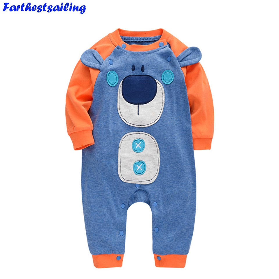2018 Spring Baby Rompers Long Sleeve Baby Boy Girl Clothes Newborn Clothing Roupas Bebe Infant Baby Jumpsuits Children Clothing