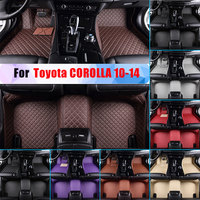 Waterproof Car Floor Mats For Toyota COROLLA 10 14 All Season Car Carpet Floor Liner Artificial Leather Full Surrounded