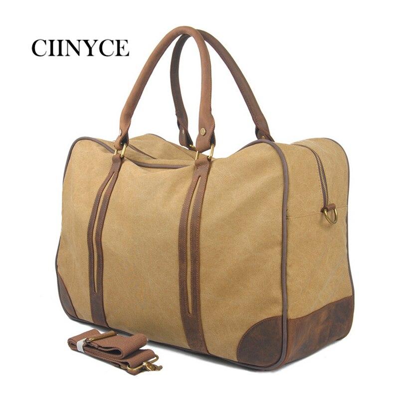 цены на Men Women Canvas Carry On Weekend Solid Khaki Amy Vintage Military Shoulder Hand Travel Luggage Tote Large Overnight Duffel Bag в интернет-магазинах