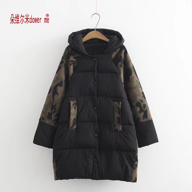 dower me Women Parkas 2017 New Winter thick Jackets hood with fake fur classic contrast moss plus size 3XL 6XL outerwear dower me women jacket 2017 autumn winter new fashion parkas padded ladies coats long quilted jackets plus size 3xl 4xl outerwear