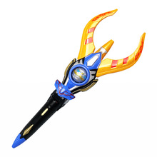 prettyangel genuine bandai tamashii nations s h figuarts exclusive ultraman orb ultraman orb thunder breastar action figure 38cm Ultraman Orb  sacred sword and spear dart, which emits light and sounds, is a children's like Ultraman toy