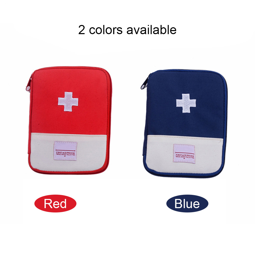 Empty First Aid Bag Emergency Pouch Travel Medicine Pill Storage Bags Outdoor Survival Organizer JLRL88