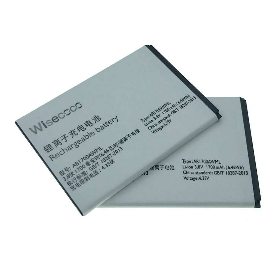 Wisecoco IN Stock NEW AB1700AWML Battery For PHILIPS Xenium S388 Smartphone With Tracking Number