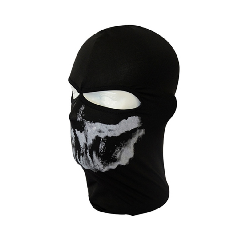 Men Cap Skull Full Face Mask Balaclava Protect Headgear Milk Silk Skullies Beanies Black 4 Styles airsoft adults cs field game skeleton warrior skull paintball mask