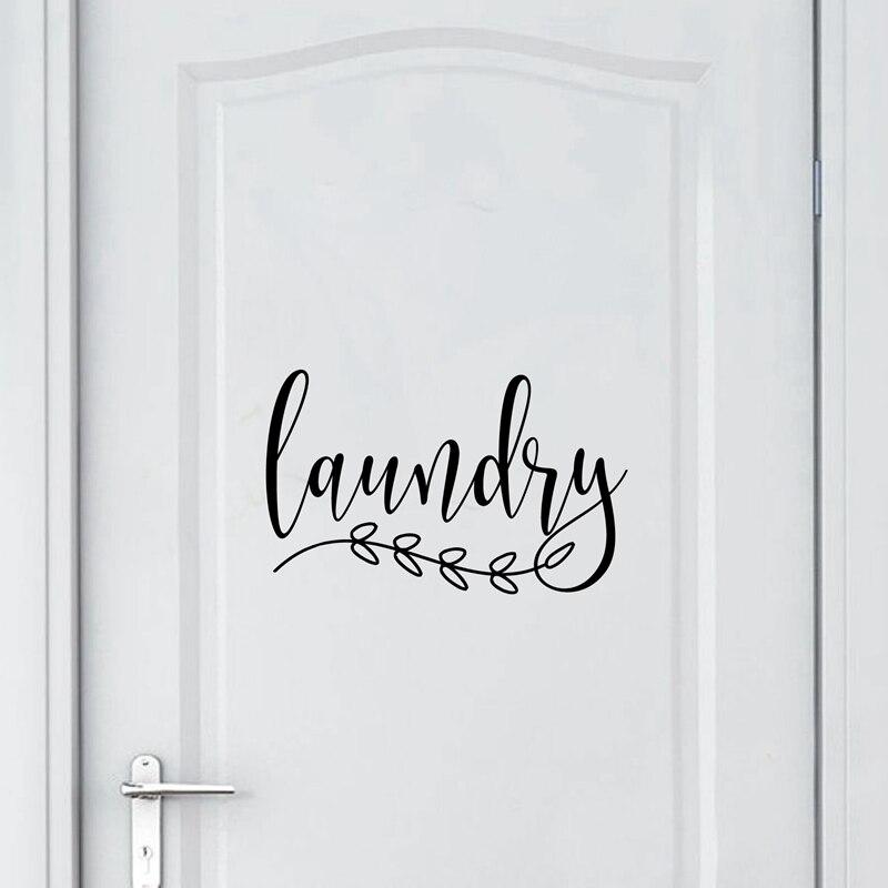 Laundry Vinyl Art Decals Door Decor (3)