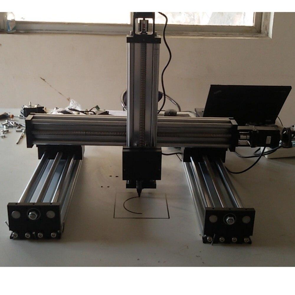 Module d'actionneur de glissière d'étape de mouvement de vis à billes de rail de guidage linéaire de CNC de 3 axes x y z table de mouvement faite sur commande - 3