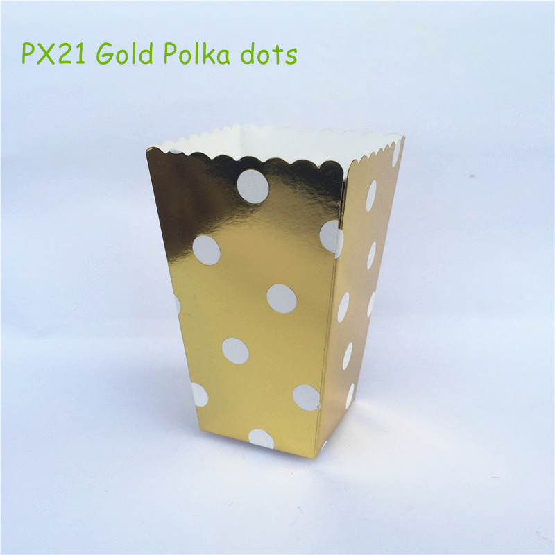 Online buy wholesale party treat boxes from china party for Gold polka dot china