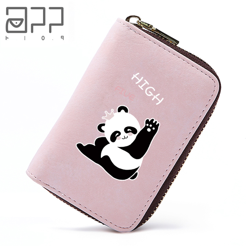 APP BLOG Cartoon Original Design Cute Panda Unisex Business Card Holder Wallet Bank Credit Card Case ID Holders Women Man Purse app blog women men credit id card holder case extendable business bank cards bag small wallet coin purse carteira mujer male