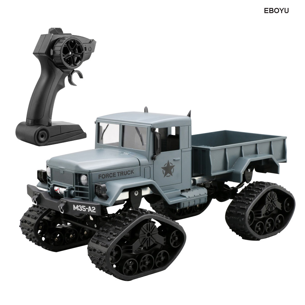 EBOYU FY001B Neve Pneumatici Truck 2.4 ghz 1/16 4WD Off-road Camion RC con la Luce Anteriore Militare Truck RTREBOYU FY001B Neve Pneumatici Truck 2.4 ghz 1/16 4WD Off-road Camion RC con la Luce Anteriore Militare Truck RTR